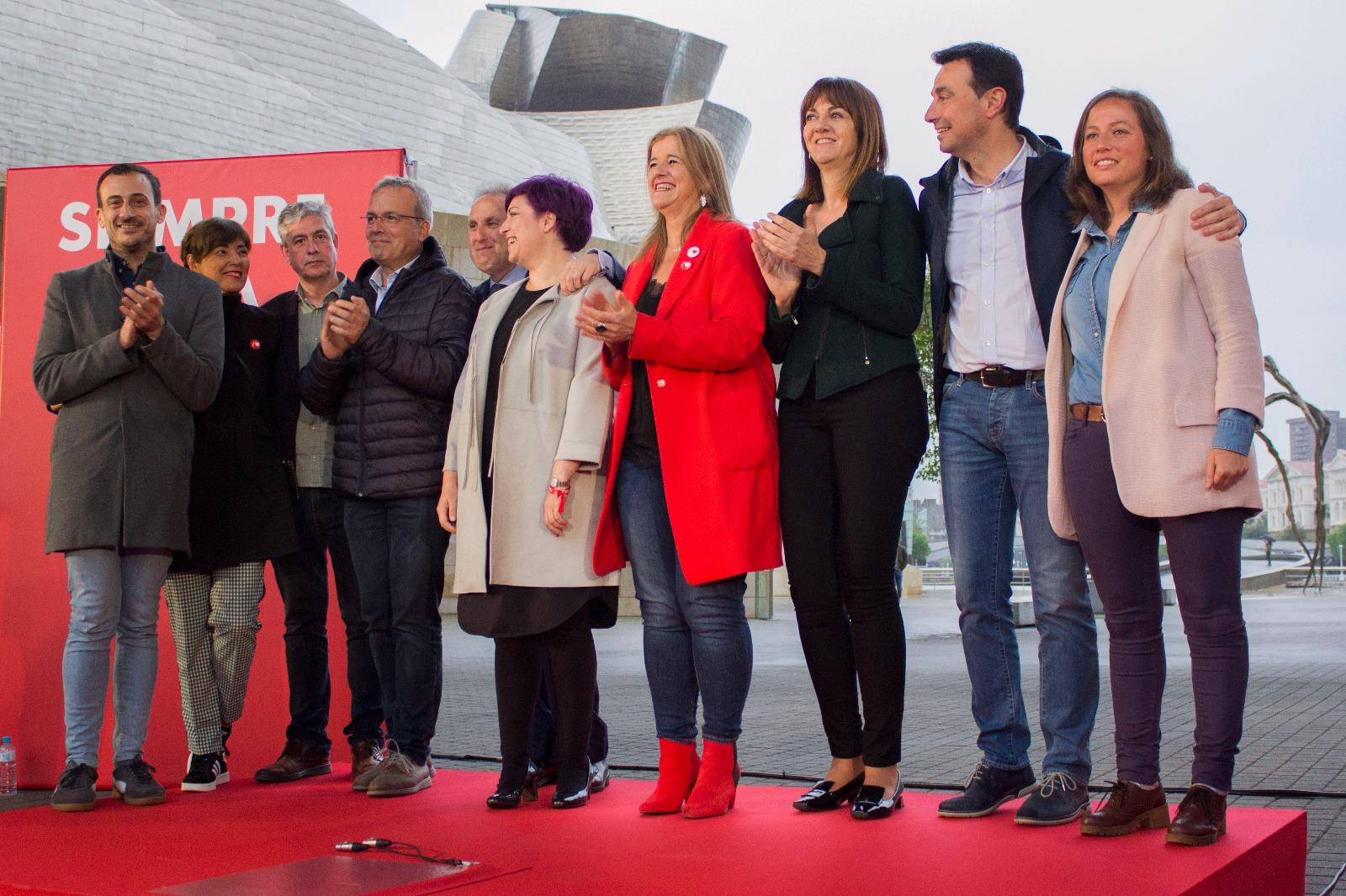 Inicio de campaña en Bilbao. Elecciones Municipales, Forales y Europeas